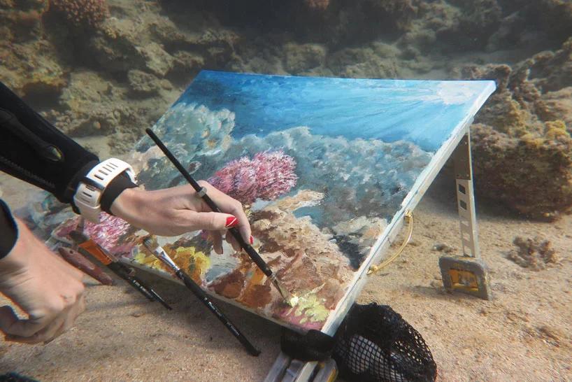 Аквастенд (Aquastand) - рисование под водой!
