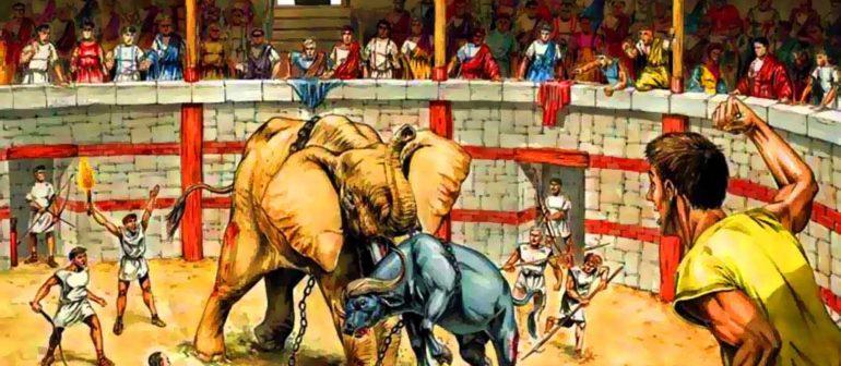 «Коррида» со слонами – древний вид спорта