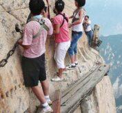 Экстремальная ходьба по «Тропе смерти» (Китай, Сиань)