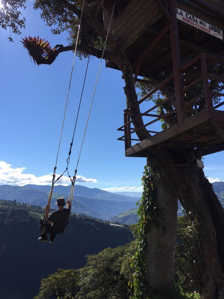 Экстремальные качели на краю света (Эквадор, Баньос)