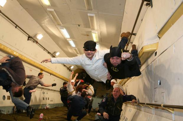Экстремальный полет на борту A300 Zero G для получения чувства невесомости.