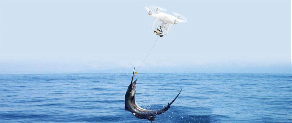 Рыбалка при помощи дрона