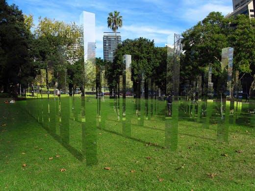 Зеркальный лабиринт в Гайд-парке (Сидней, Австралия)
