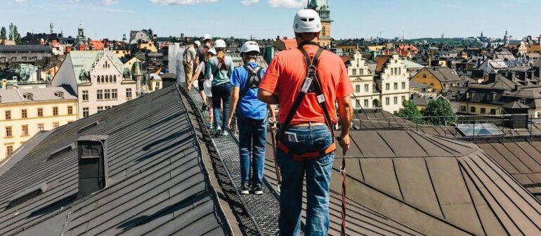 Экстремальный тур по крышам Стокгольма