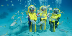 Джой-дайвинг (joy diving) на подводных скутерах