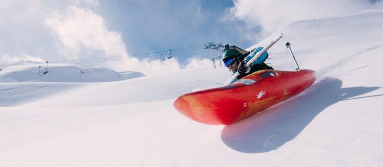Сноукаякинг или катание на лодках на снегу (snow kayaking, Snow boating)