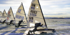 Ледовый яхтинг (Iceboat)