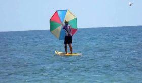 Кайтинг с зонтом